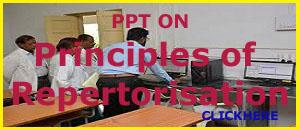PPT ON PRINCIPLES ON REPERTORISATION