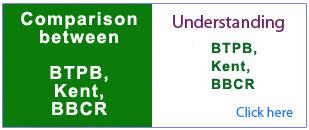 Comparison between BTPB and Kent