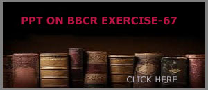 PPT ON BBCR EXERCISE-67