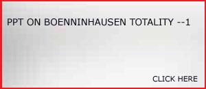 PPT ON BOENNINGHAUSEN TOTALITY-1